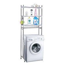 over laundry washing machine bathroom storage rack shelf 3 tiers