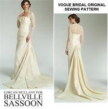 vogue wedding dress patterns vogue 1535 wedding dress pattern bridal bellville sassoon sizes 18