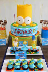the simpsons birthday ideas burgers birthdays and