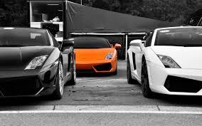 Lamborghini Gallardo Orange - black white cars vehicles selective coloring lamborghini
