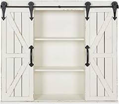 vintage kitchen wall cabinet white kate and laurel cates wood wall storage cabinet with two sliding barn doors rustic white