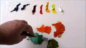how to mix oil colors split primary color palette youtube
