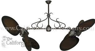 twin star ii ceiling fan twin star ii double ceiling fan with 50 inch distressed wood blades