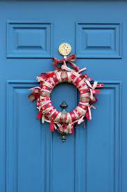ribbon wreath small rustic wreath rustic holiday decor