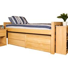 Twin Beds With Drawers University Loft Graduate Series Twin Xl Bed Natural Finish Free