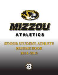 Golf Caddy Resume 2014 2015 Mizzou Athletics Senior Resume Book By Kim Bishop