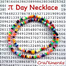 craftiments pi day necklace craft for kids