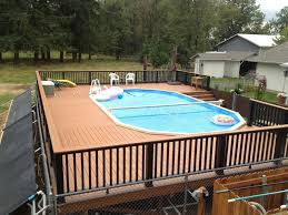 above ground pool decks designs u2014 unique hardscape design wood
