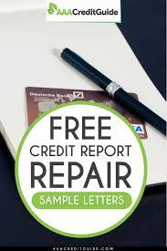free credit repair sample letters for 2017 credit bureau