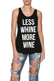 bear dance less whine more wine tank from miami by shop 603
