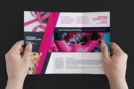 free gym fitness trifold brochure template for photoshop