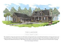 lakeside cottage plans hampton lake concept home collection