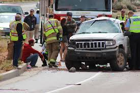 jeep utah speeding driver loses control rolls jeep cherokee by dixie rock
