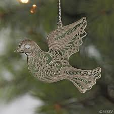 ornaments filigree dove ornament