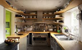 creative wall shelf ideas for small kitchen decorating with modern
