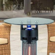 Led Bistro Table Energ 1400w Electric Infrared Bistro Table Patio Heater With Led