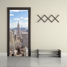 home decor new york 2 pcs set manhattan new york wall stickers diy mural bedroom home