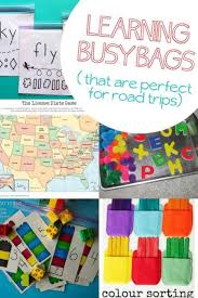 25 busy bag ideas for road trips on as we grow