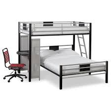Black Bunk Bed With Desk Samba Loft Bed With Desk Matte Black Value City