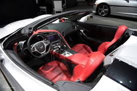 corvette stingray interior 2015 naias chevy corvette stingray convertible red interior