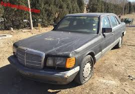 dusty china mercedes 560sel is a dusty beauty in china carnewschina