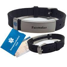 engraved bracelets universal medical data pre engraved u201cpacemaker u201d advisor medical