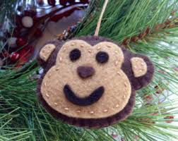 monkey ornament etsy