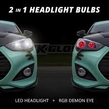 app controlled car lights xkglow kia soul 2017 2018 xkchrome app control rgb led headlight