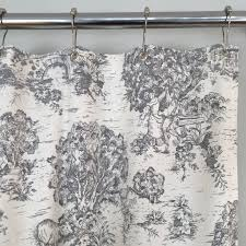 gray toile shower curtain u2013 southern ticking co