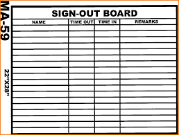 Sign In Out Sheet Template 3 Sign Out Sheet Template Expense Report