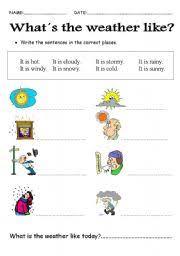weather worksheet by laska