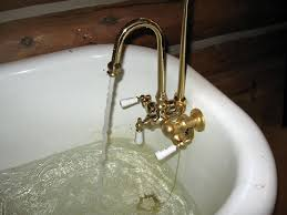 Installing A Bathtub Faucet How To Replace A Clawfoot Tub Faucet And Waste And Overflow