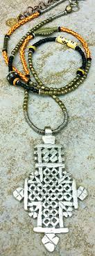 long boho pendant necklace images Long tribal boho mixed media ethiopian coptic cross pendant necklace JPG