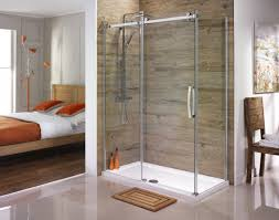 Unique Shower Doors by Custom Shower Door With Tub Enclosed In Wet Room Featured On