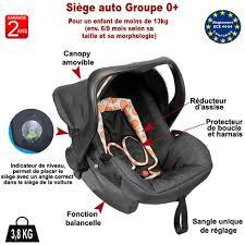 siege auto bebe 9 mois siège auto bébé coloris noir bulles groupe 0 bebeachat pas cher à