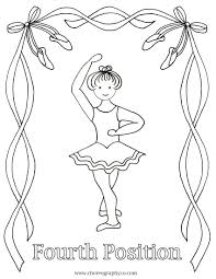 ballet coloring pages google search fourth position ballet