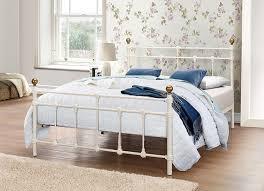 birlea atlas bed metal cream double amazon co uk kitchen u0026 home