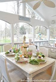 Easter Sunday Table Decorations by A Spring Table Setting With The Easter Bunny