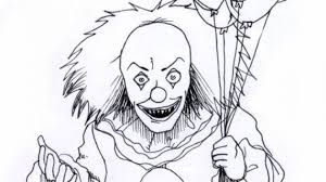 scary clowns drawings drawing pencil