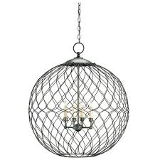 Orb Light Fixture by Currey Company Lighting Simpatico Orb Chandelier Large 9617