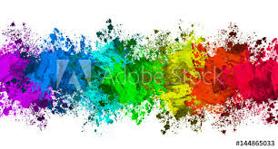 color and paint multi color paint splatter border background buy this stock