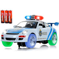 amazon com toysery police car toy with 3d technology flashing