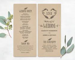 photo wedding programs printable wedding invitations programs and signs by vinewedding