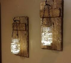 Rustic Sconce Rustic Candle Holders Lanterns Rustic Decor Hanging Jars
