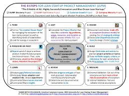 8 steps for lean startup project management lspm