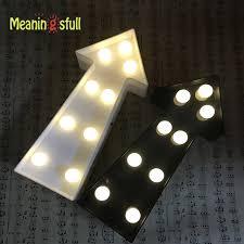arrow of light decorations meaningsfull newest 7 led white black arrow night light indicator