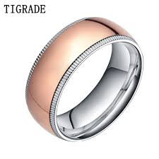 wedding band men 8mm titanium ring gold wedding band men engagement jewelry