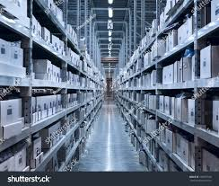 interior new modern warehouse space well stock photo 105075548