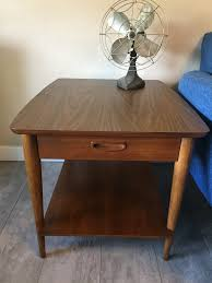 lane mid century side table with drawer and shelf mcm by dtab