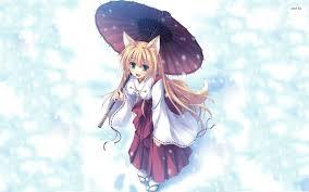 winter anime wallpaper hd anime cat girl wallpapers group 50